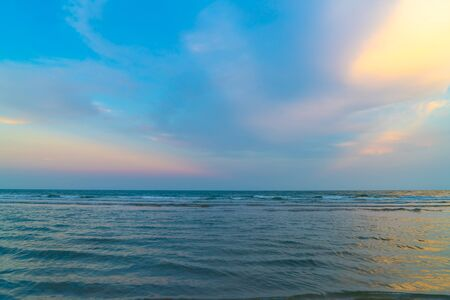 beautiful twilight sky with sea beach - holidays and vacation concept Stock fotó