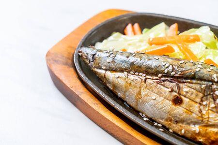 Grilled Saba fish steak with teriyaki sauce - Japanese food style Stok Fotoğraf
