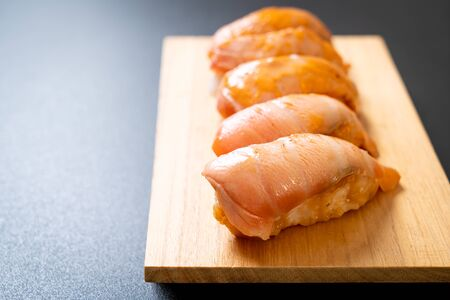 salmon burned sushi - japanese food style
