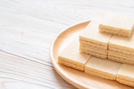 milk wafer with milk cream Stock Photo