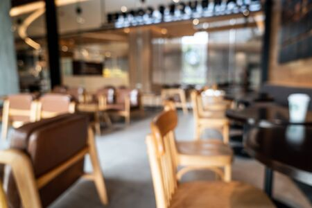 abstract blur and defocused in coffee shop cafe and restaurant for background Фото со стока