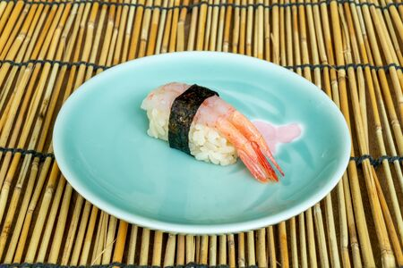 fresh sweet shrimps sushi - Japanese food style Reklamní fotografie