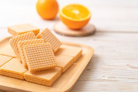 wafer with orange cream flavor