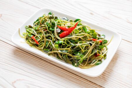 Fried Sunflower Sprout with Oyster Sauce - healthy food style