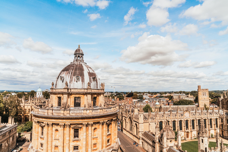 Radcliffe Camera and All Souls College at the university of Oxford. Oxford, United Kingdom.