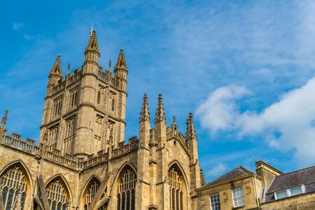The Abbey Church of Saint Peter and Saint Paul, Bath, commonly known as Bath Abbey, Somerset England, United Kingdom. Stock Photo