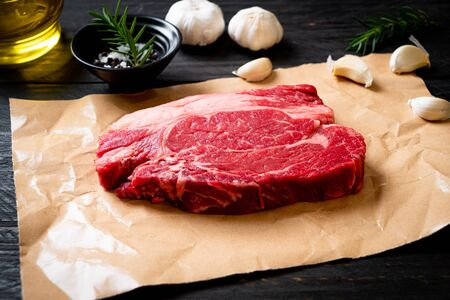 fresh raw beef steak or raw meat