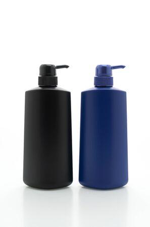 shampoo pump bottle isolated on white background