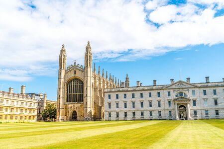 Bella architettura alla Cappella del King's College di Cambridge, Regno Unito