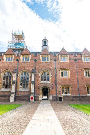 Beautiful Architecture St. Johns College in Cambridge, United Kingdom.