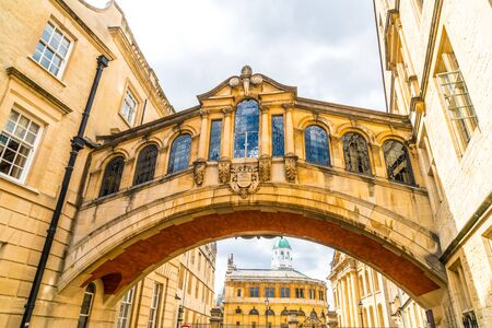 Hertford Bridge known as the Bridge of Sighs, is a skyway joining two parts of Hertford College, Oxford, United Kingdom.
