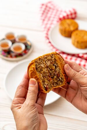 Chinese moon cake for Chinese mid-autumn festival - Chinese dessert style