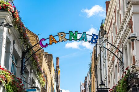 Carnaby street sign in London, United Kingdom