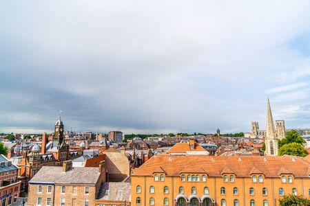 Una vista de la ciudad de York en Inglaterra, Reino Unido.