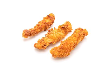 fried chicken stick isolated on white background