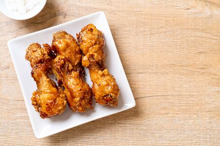 fried chicken with sauce in Korean style Stockfoto