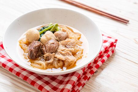 Braised pork noodles bowl - Asian food style