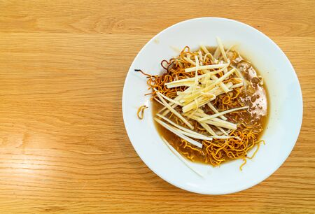 Crispy Noodles in Thick Gravy with Chicken - Asian food style