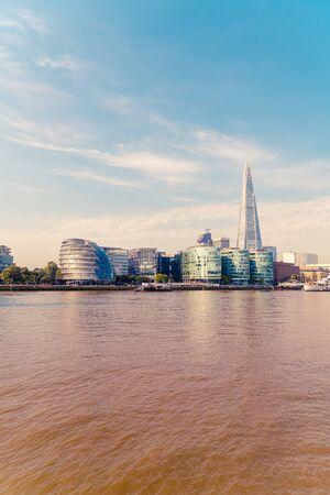 Financial District of London City in UK 免版税图像