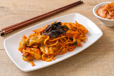 stir-fried noodles with Korean spicy sauce and vegetable - Korean Food Style 写真素材