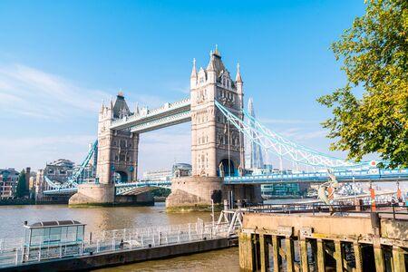 Tower Bridge en la ciudad de Londres, Reino Unido
