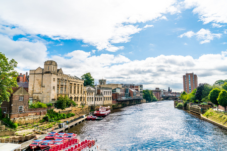 York City with River Ouse in York ,United Kingdom.