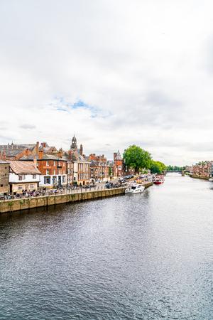 York, Yorkshire, United Kingdom - SEP 3, 2019: York City with River Ouse in York ,United Kingdom. Sajtókép