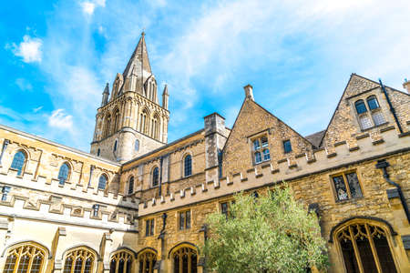 Beautiful Architecture Christ Church Cathedral in Oxford, United Kingdom. 免版税图像