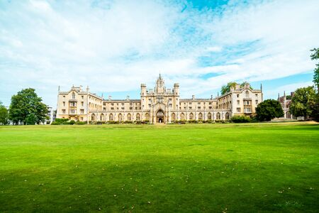 Beautiful Architecture St. John's College in Cambridge, United Kingdom. Banque d'images