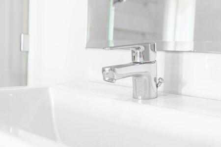 faucet or tap in bathroom interior