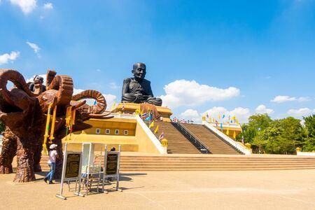 Hua-Hin,THAILAND 17 DEC 2019 : Luang Pu Thuat statue at Wat Huay Mongkol Temple in Thailand