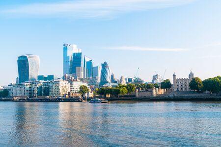 Finanzviertel von London City in Großbritannien Standard-Bild