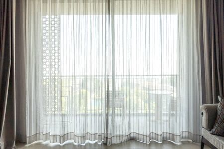empty curtain in room for background