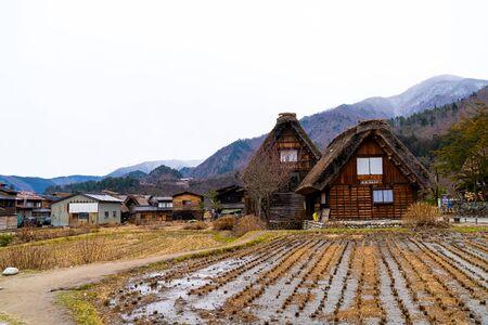 Traditional and Historical Japanese village Shirakawago in Japan