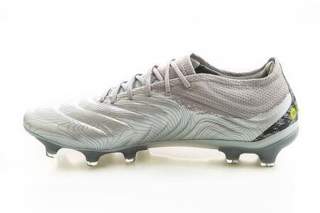 BangkokThailand - 21 Jan 2020 : Adidas football launch the new Copa 20.1 isolated on white background which is designed for touching and controlling performance of soft kangaroo leather. 報道画像