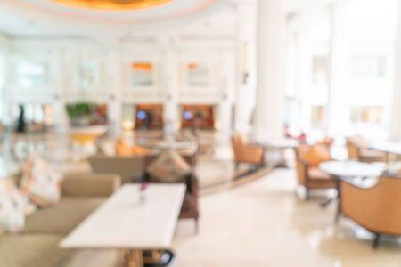Abstract blur luxury hotel lobby