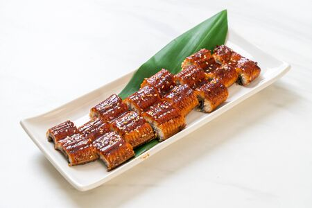 sliced grilled eel or grilled unagi with sauce (Kabayaki) - .Japanese food style Banque d'images