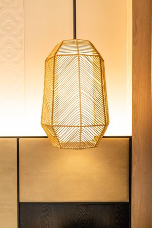 beautiful hanging lamp decoration in a room Stock Photo