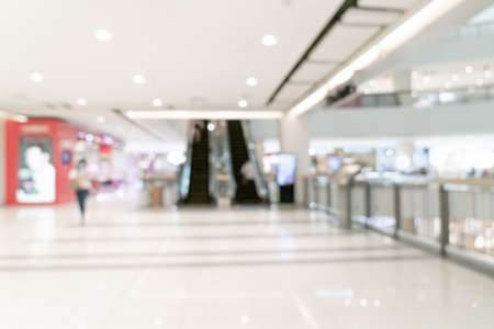 abstract blur shopping mall and retail store for background