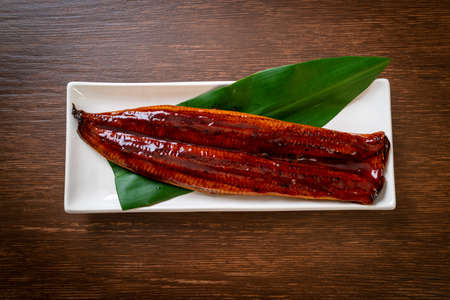 grilled eel or grilled unagi with sauce (Kabayaki) - .Japanese food.