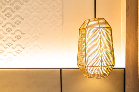 beautiful hanging lamp decoration in a room Фото со стока