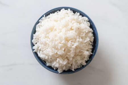 cooked Thai jasmine white rice bowl