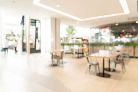 abstract blur food court in shopping mall for background Standard-Bild