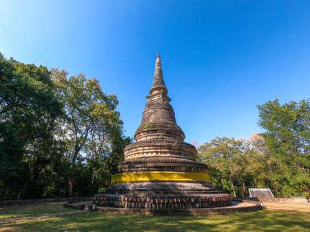 Ancient pagoda Wat Umong at Chiang mai in Thailand