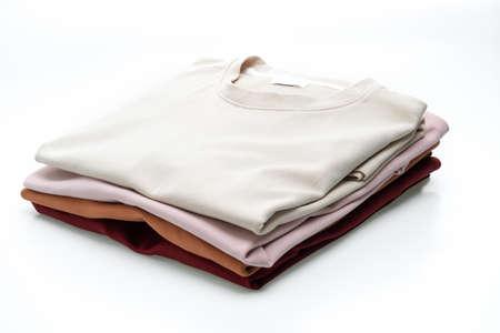 fold t-shirt isolated on white background Archivio Fotografico