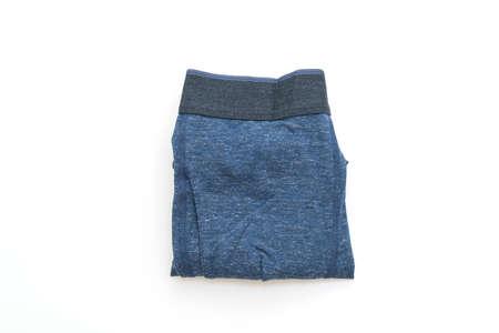 blue men underwear isolated on white background