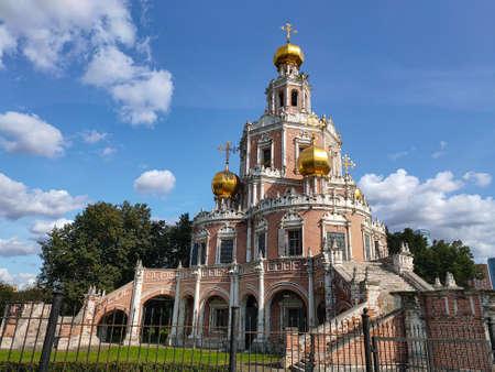Church of the Intercession at Fili (circa 1694). Naryshkin baroque church commissioned by the boyar Lev Naryshkin in his suburban estate Fili