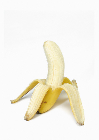 peeled banana: Close-up of a peeled banana