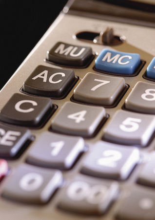 Close-up of the buttons of a calculator Stock Photo - 1942918