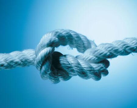 Close-up of a knot on a rope